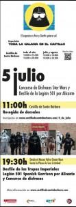 Las tropas de la Legión 501 tomarán las calles de Alicante el 5 de julio en AIRE LIBRE
