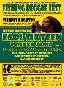 Fomentando la paz: 'Fishing Reggae Fest', 8 agosto en Torrevieja en MÚSICA