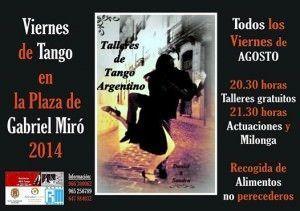 Viernes de tango y milonga en la Plaza Gabriel Miró en ESCENA