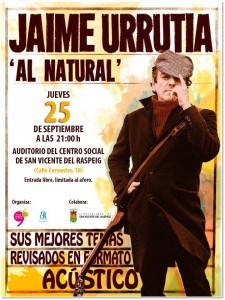 Jaime Urrutia al natural, el 25 de septiembre en San Vicente en MÚSICA