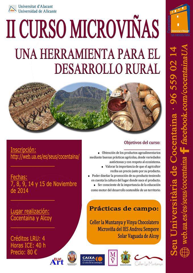 Curso de microviñas, herramienta para el desarrollo rural en AIRE LIBRE