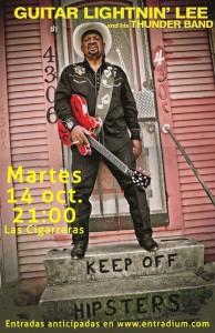 Guitar Lightnin' Lee llega hoy a Las Cigarreras desde Nueva Orleans en MÚSICA
