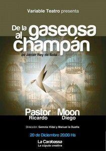 La obra 'De la gaseosa al champán', en La Carabassa este 20 de diciembre en ESCENA