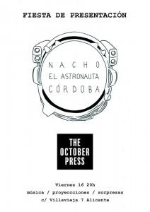 Hoy, presentación de 'El Astronauta' de Nacho Córdoba en The October Press  en CÓMIC