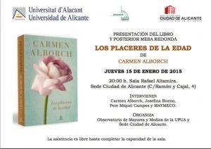 Carmen Alborch presenta su libro 'Los placeres de la edad' en la Seu en LETRAS