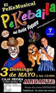 El musical infantil Pekebaila del Ratón Vaquero en Las Cigarreras en ESCENA