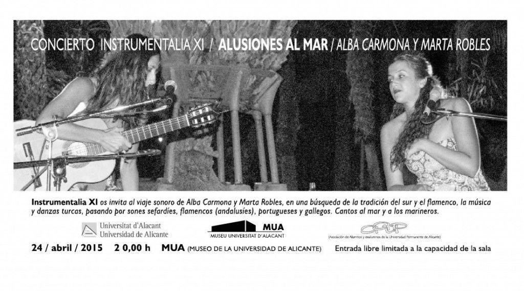 Alba Carmona y Marta Robles ofrecen sus 'Alusiones al Mar' en el MUA en ESCENA