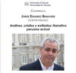 El CeMaB organiza una semana con el escritor peruano Jorge Eduardo Benavides en LETRAS