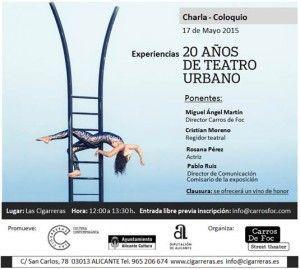 Una charla acerca los 20 años de teatro urbano de Carros de Foc en CONFERENCIAS