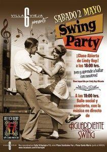 El sábado 2 de mayo, Swing Party en Villavieja 6 en MÚSICA