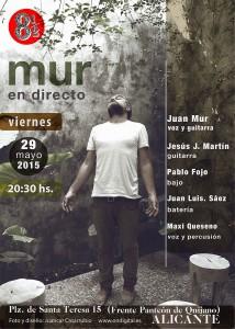 Mur en vivo presenta banda y disco en 8 y ½ en MÚSICA
