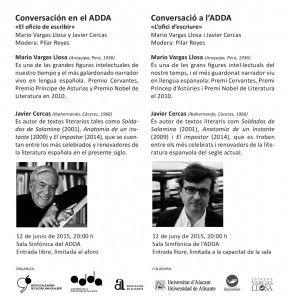 Vargas Llosa y Javier Cercas, un encuentro histórico en Alicante en LETRAS