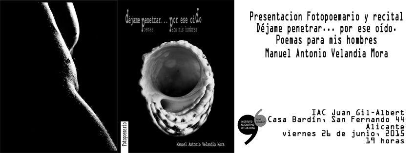 Homoerotismo poético y fotográfico de Manuel Velandia en el Gil-Albert en LETRAS