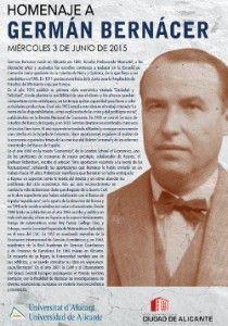 La Universidad de Alicante homenajea al ilustre economista Germán Bernácer en CONFERENCIAS
