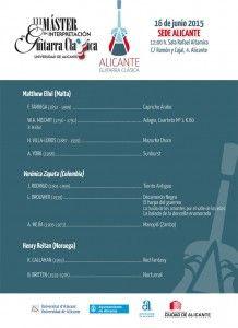 Ciclo de conciertos de guitarra clásica en la Sede Ciudad en MÚSICA