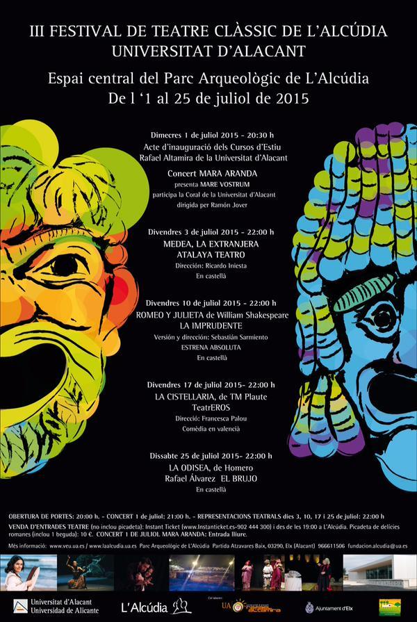 El III Festival de Teatro Clásico L'Alcúdia-UA ofrece cuatro representaciones al aire libre en ESCENA