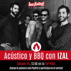 Izal ofrece un concierto íntimo para lowers que hayan cargado su pulsera con PayPal en MÚSICA