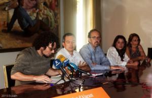 Representantes de los museos y centros culturales que han intervenido en la presentación.