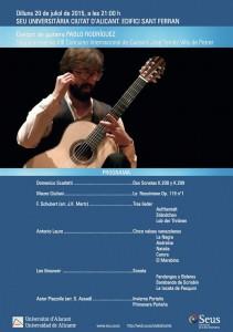 Concierto de guitarra clásica de Pablo Rodríguez en la sede de San Fernando en MÚSICA