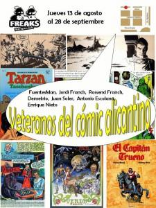 Una exposición repasa 40 años de cómic alicantino en el Freaks en CÓMIC