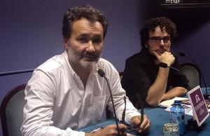 Concejal Daniel Simón y Francesc Sanguino Director del Teatro Principal