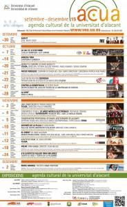 La UA programa 18 espectáculos culturales para el primer cuatrimestre del curso en ARTE