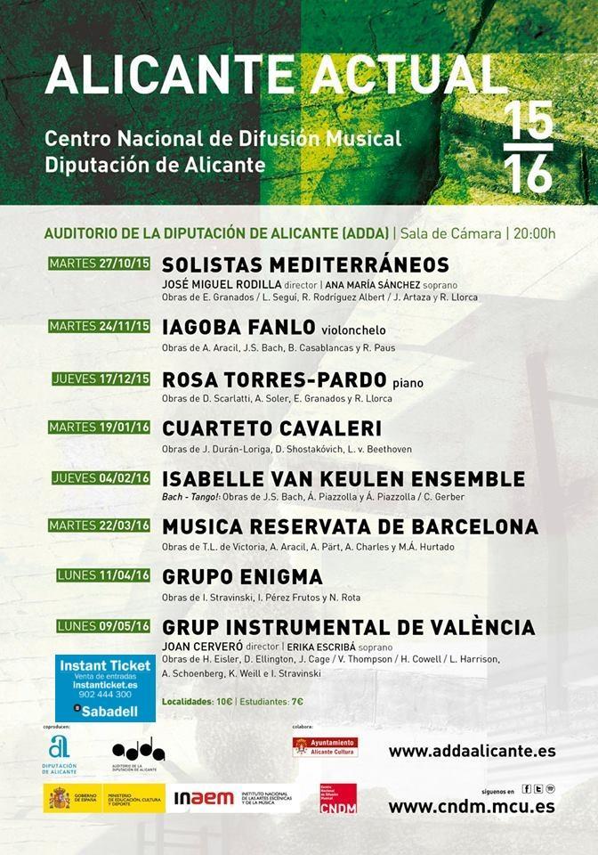 'Alicante Actual' ofrecerá ocho recitales de música barroca y contemporánea en el ADDA  en MÚSICA