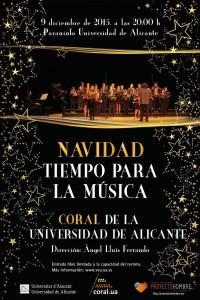 La Coral de la UA ofrece seis conciertos de Navidad en Alicante, Elda y Orihuela en MÚSICA