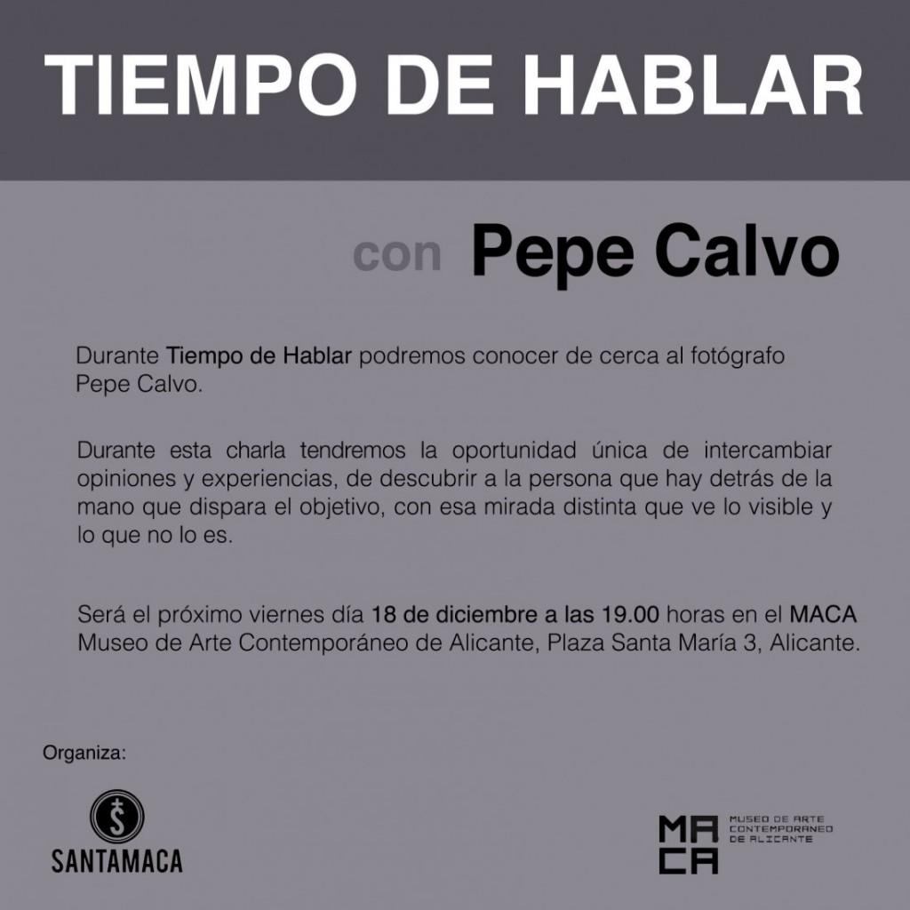 Tiempo de hablar con Pepe Calvo en FOTOGRAFIA