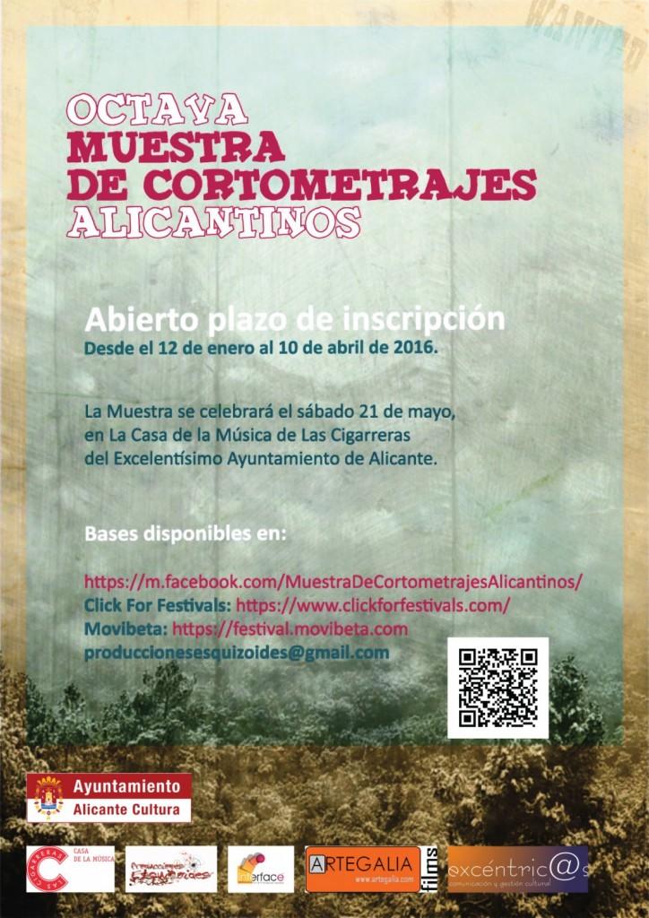 Abierta la convocatoria de la 8ª Muestra de Cortometrajes Alicantinos en CINE