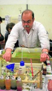 Los papeles marmoleados en encuadernación en ARTE ARTESANIA