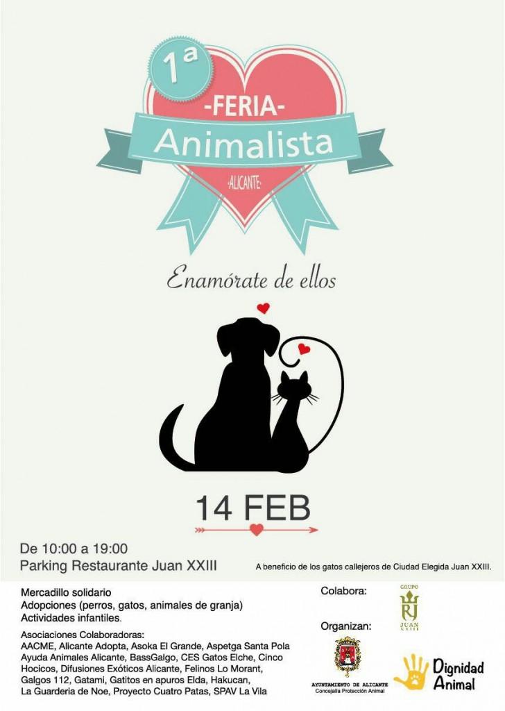 Alicante celebra la I Feria Animalista 'Enamórate de ellos' en MEDIO AMBIENTE
