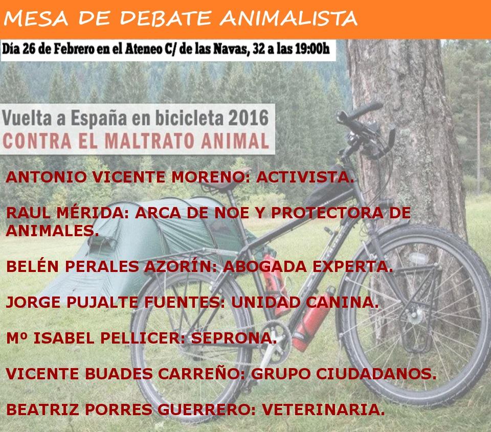 Vuelta a España en bicicleta contra el maltrato animal en CONFERENCIAS MEDIO AMBIENTE