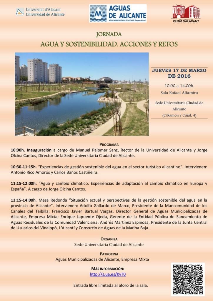 Aguas de Alicante y la Sede Ciudad organizan la jornada 'Agua y Sostenibilidad' en CONFERENCIAS MEDIO AMBIENTE