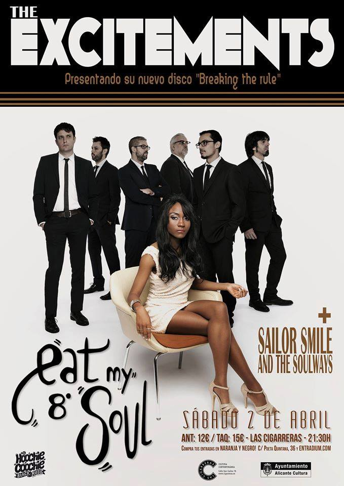 The Excitements y Sailor Smile and The Soulwaves destapan el 8º 'Eat my soul' en MÚSICA