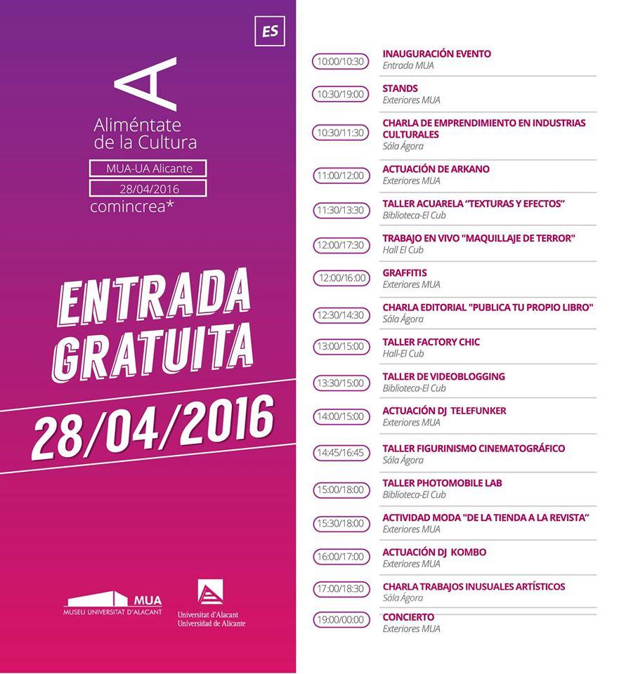 El MUA acoge la 2ª edición de 'Aliméntate de la Cultura' en ARTE