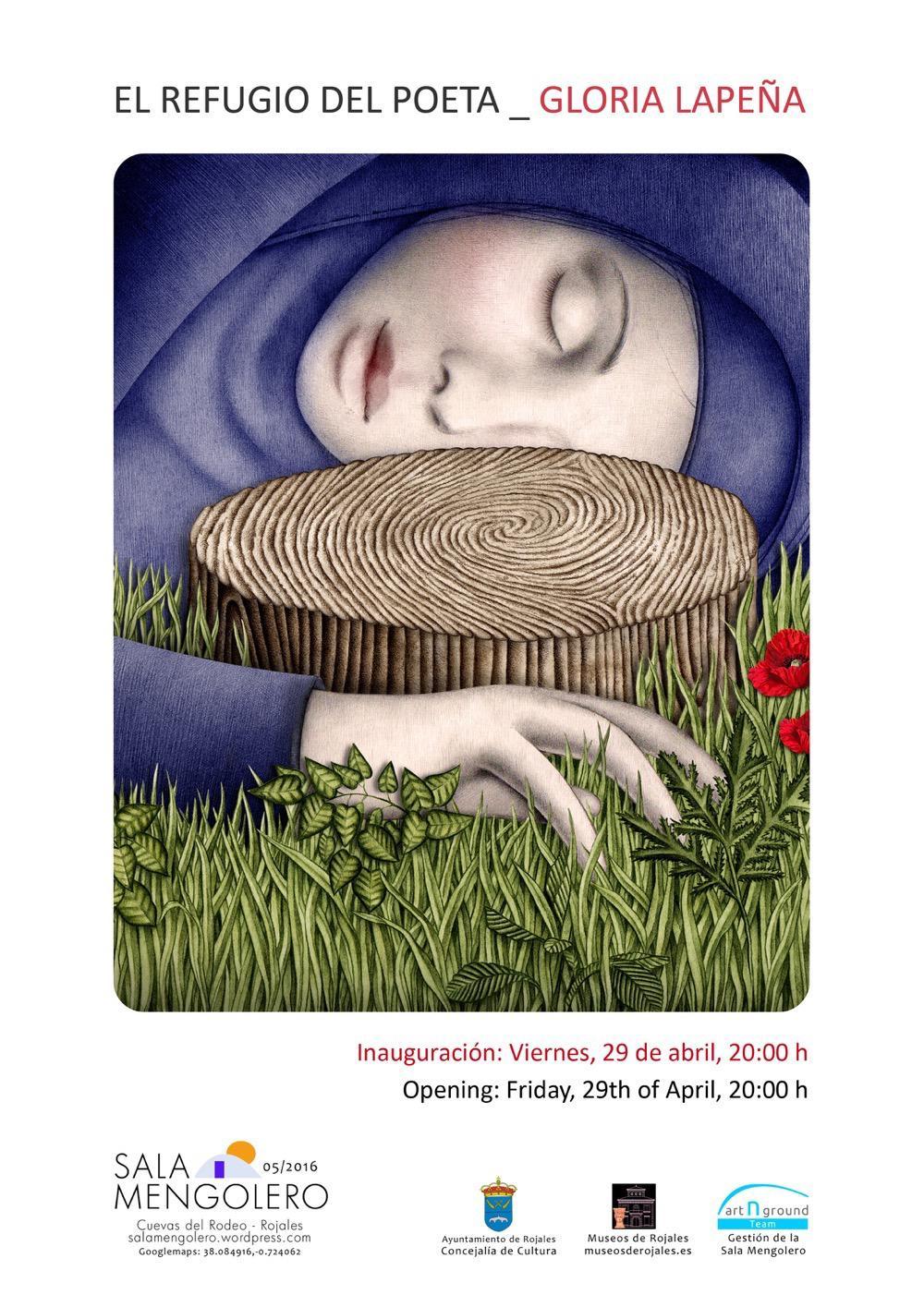 """Exposición """"El Refugio del Poeta"""" de Gloria Lapeña en Sala Mengolero en ILUSTRACIÓN"""