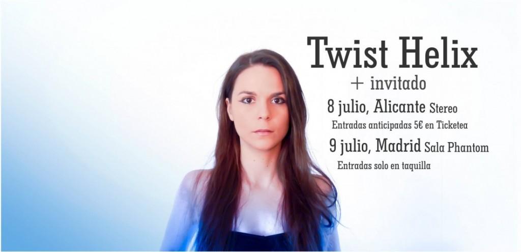 Entrevista a James y a Bea de Twist Helix, con motivo de su próxima actuación en Alicante en MÚSICA