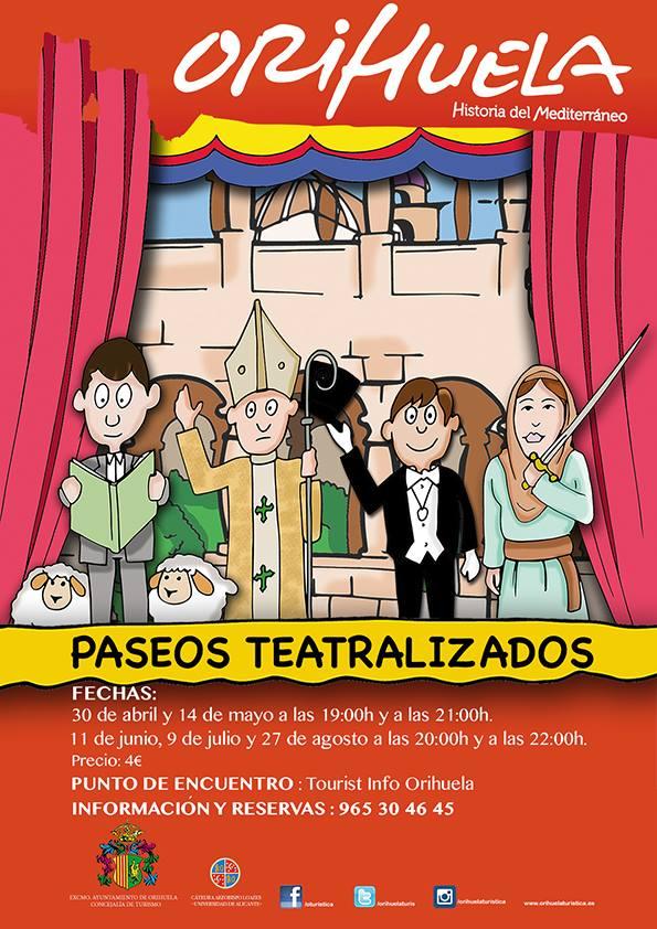 Vuelven las visitas teatralizadas a Orihuela en AIRE LIBRE ESCENA