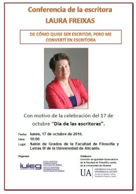Laura Freixas estrena el 'Día de las escritoras' con una conferencia en la UA en CONFERENCIAS LETRAS
