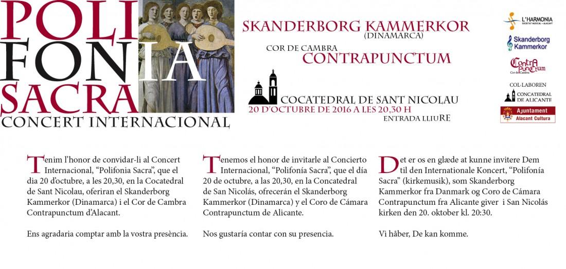 La Concatedral de San Nicolás acoge un concierto internacional de polifonía sacra en MÚSICA