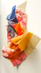 Elena Jiménez Cuatricomía en patchwork en el Juan Gil-Albert en ARTE