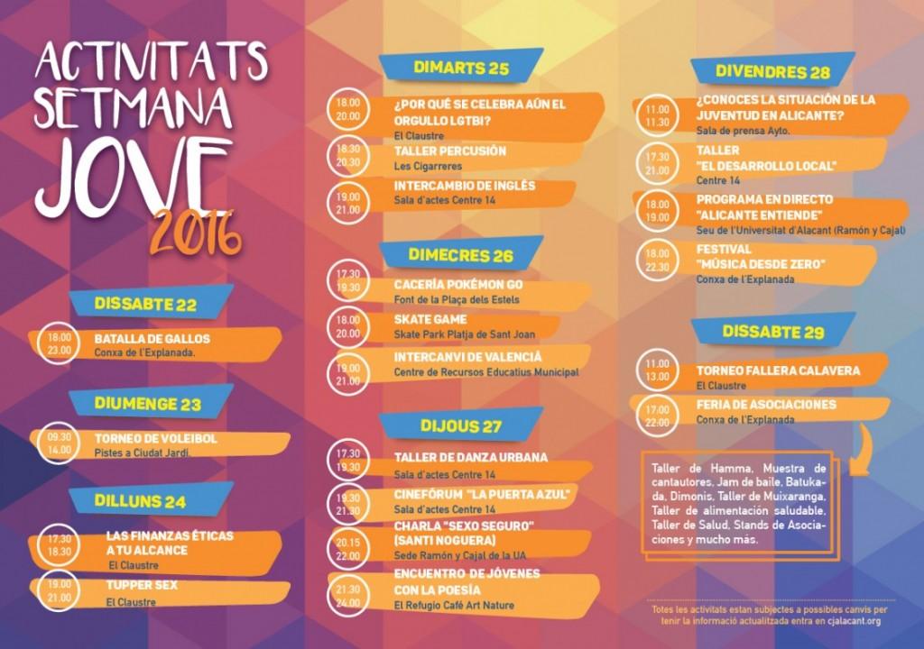 La XII Setmana Jove llena de actividades distintos espacios de Alicante en ARTE