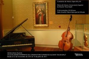 Música en el Palacio Episcopal de Orihuela en ARTE MÚSICA