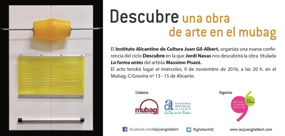 Exposiciones, charlas y libros marcan la programación del Gil-Albert en ARTE