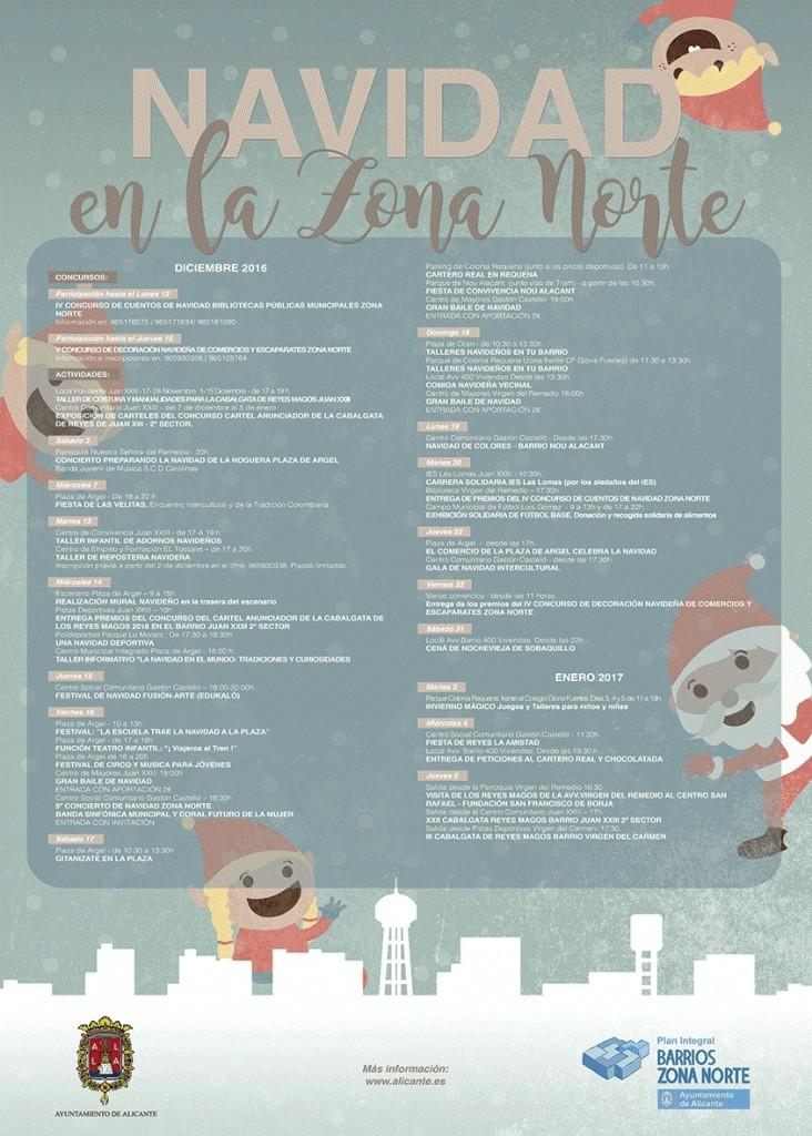 Programa de Navidad en la zona norte de Alicante en ARTE
