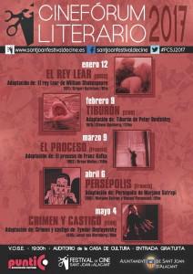 Nueva programación de la Filmoteca de Sant Joan y el Cinefórum literario en CINE