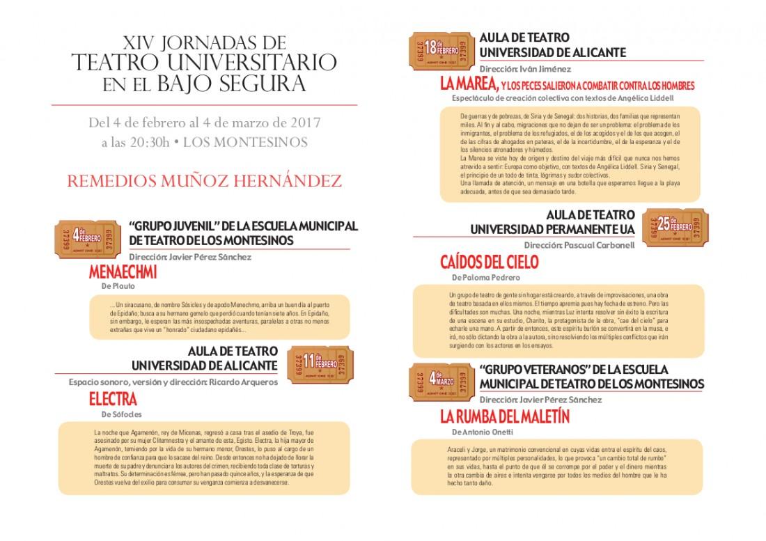 XIV Jornadas de Teatro Universitario del Bajo Segura en ESCENA