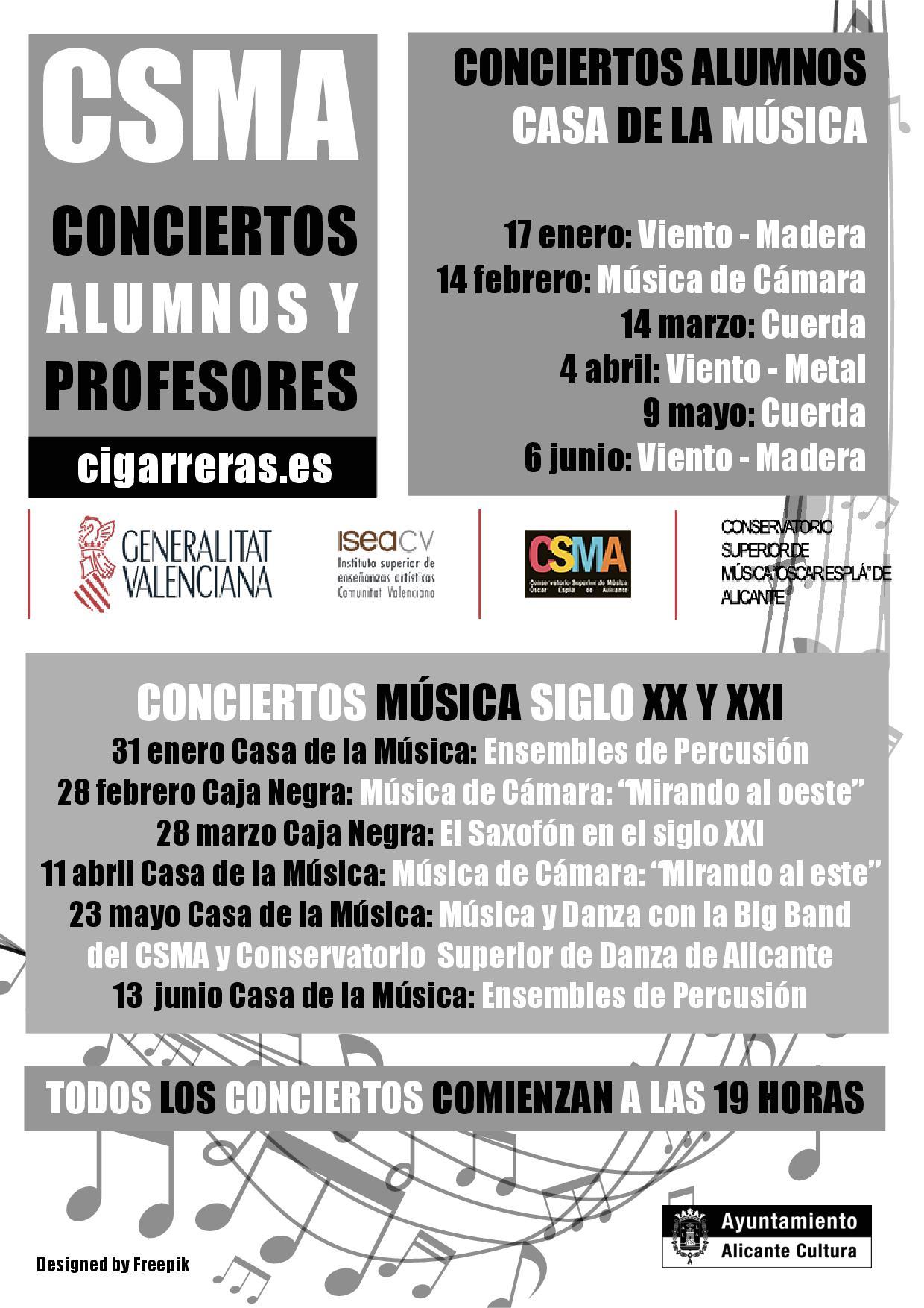 Dos ciclos de conciertos visibilizan el talento de alumnos y profesores en MÚSICA