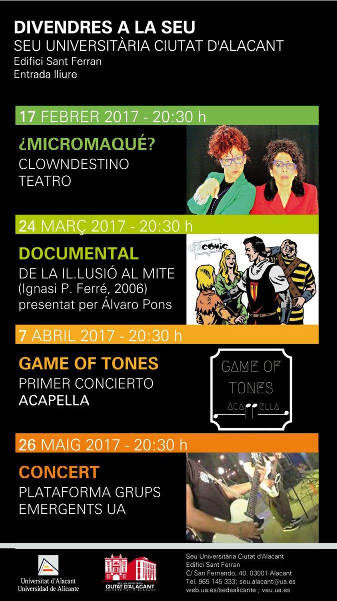 Teatro, música y cómic en la programación de 'Divendres a la Seu' en CÓMIC ESCENA MÚSICA